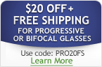 $20 Off + Free Shipping for all Progressive / Bifocal Glasses!