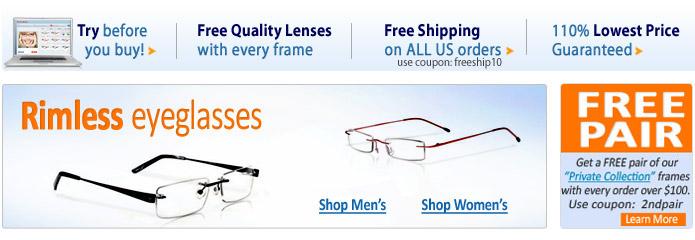 rimless sunglasses for women. Women Bifocal/Progressive
